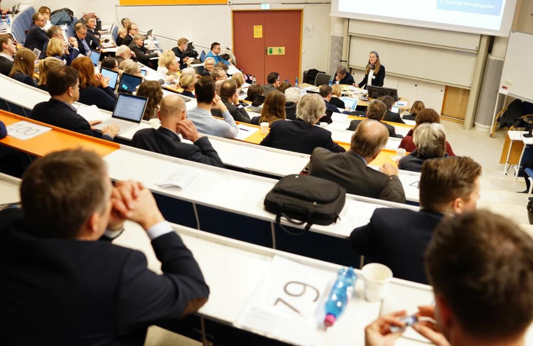 Illustrasjonsfoto fra representantskapsmøtet i Universitets- og høgskolerådet på Lillehammer 22. november. Foto: Ketil Blom Haugstulen