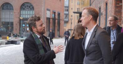 Torbjørn Røe Isaksen hos Curt Rice på Høgskolen i Oslo og Akershus.