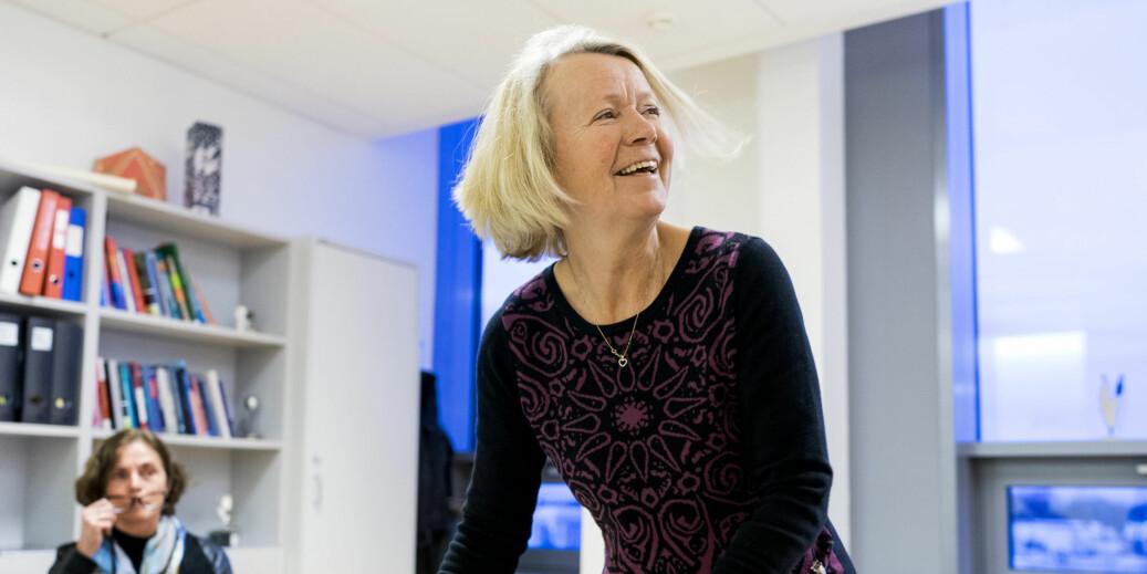 Dekan Gro Jamtvedt sier at sykepleieutdanningen ved OsloMet ikke kan bli landets beste på alt. Foto: Ketil Blom Haugstulen