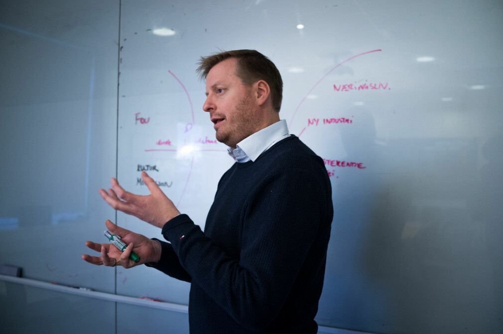 Finansdirektør i NTNU TTO, Lasse Olsen. Foto: David Engmo