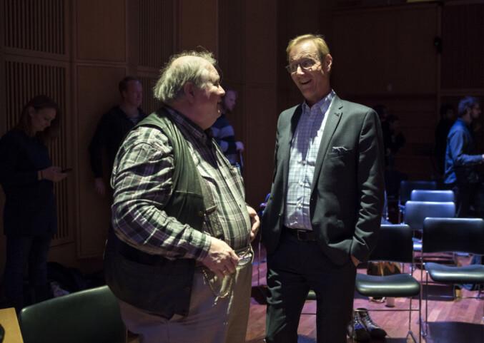 Peter Tornquist sammen med folkemusiker Knut Buen. Foto: Ketil Blom Haugstulen