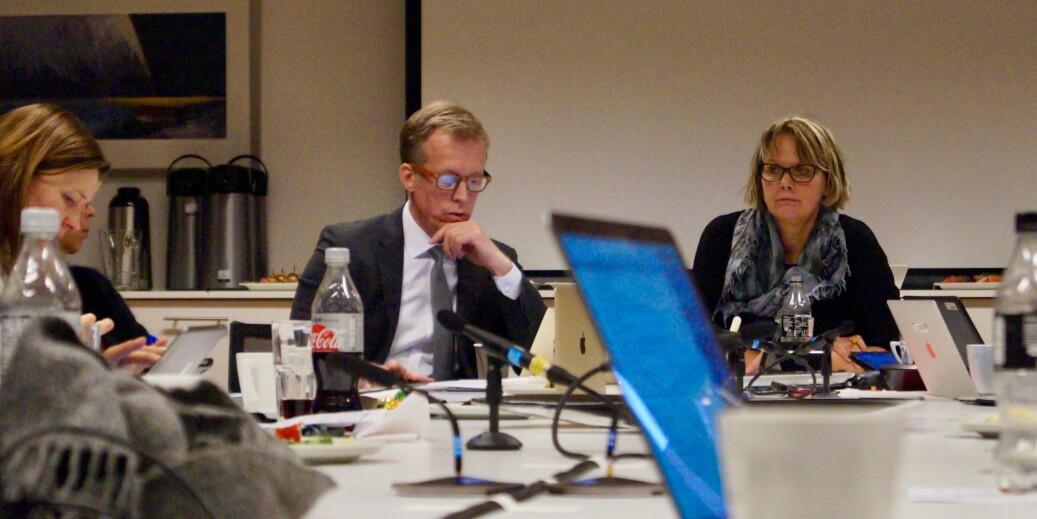 Styreleder Trine Syvertsen var tydelig i sin støtte til HiOA-rektor Curt Rice og hans navnevalg for det nye universitetet. Foto: Øystein Fimland