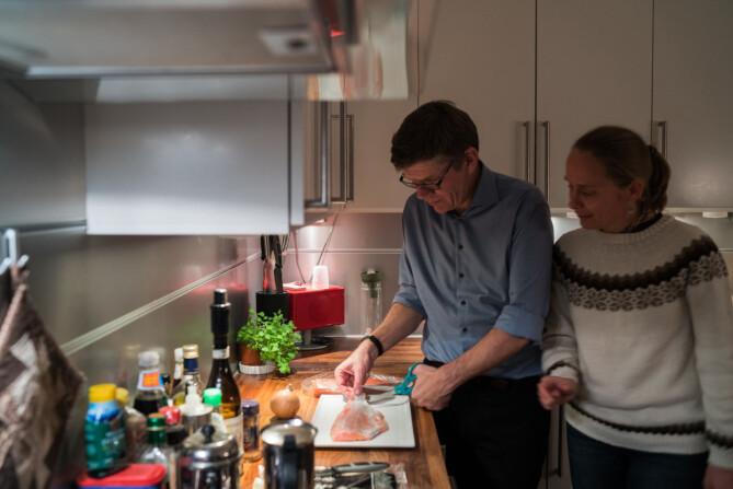 Svein Stølen med kone, Ingvil Gausemel. Foto: David Engmo