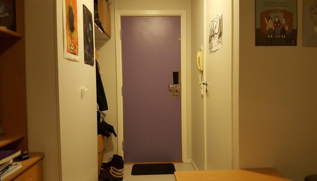 Den døra skjermet meg, skriver Bjørn Harald Hegreberg Garborg, som også har tatt bildet.