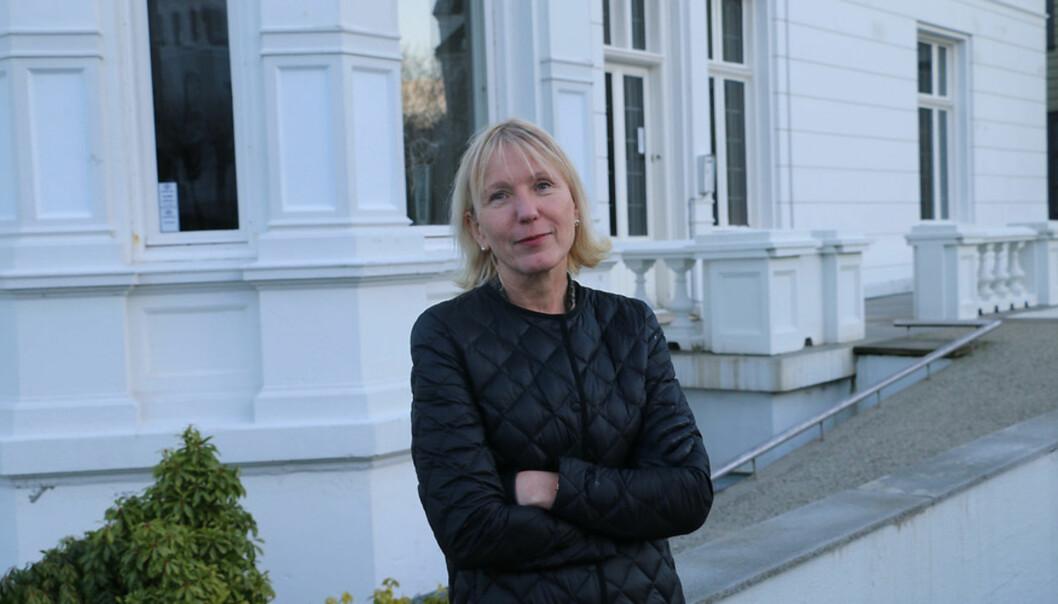 Prorektor for forskning på Universitetet i Bergen, Margareth Hagen, er svært godt fornøyd med den nye avtalen man har oppnådd med tidsskriftsforlaget Elsevier. Foto: Hilde Kristin Strand