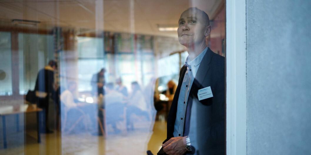 Steinar Kristoffersen, rektor ved Høgskolen i Molde, har informert både styret og de ansatte om at det ikke blir noe sammenslåing med NTNU. Foto: Ketil Blom Haugstulen