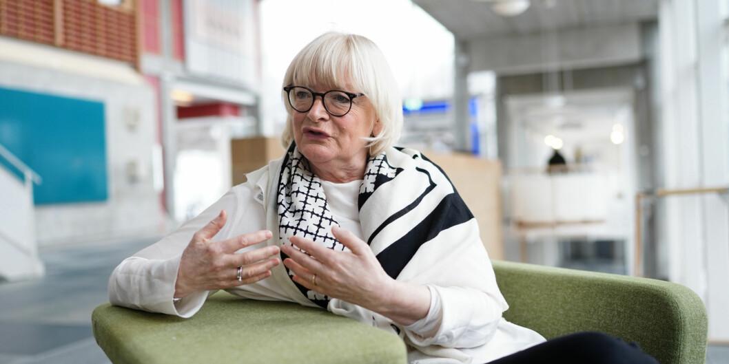 Rektor Berit Rokne ved Høgskulen på Vestlandet håper at regionmeldingen vil styrke de regionale forskningsmidlene, samtidig som nasjonale forskningsmidler fremdeles ivaretas. Foto Ketil Blom Haugstulen.