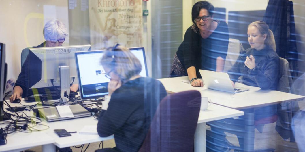 Vil du bli med på Khrono-laget? Vi satser og øker redaksjonen både i Bergen og Oslo. Foto: Ketil Blom Haugstulen