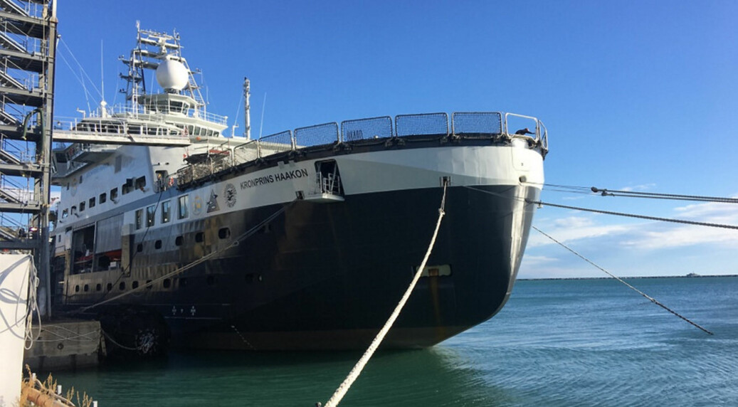 Forskningsskipet Kronprins Haakon, skal ha hjemmehavn i Tromsø. Foto: Stig Vågenes/UiB