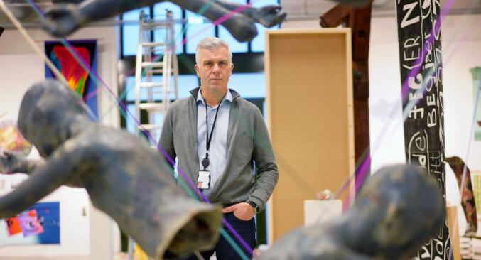 Rektor ved Kunsthøgskolen i Oslo, Jørn Mortensen. Foto: Ketil Blom Haugstulen