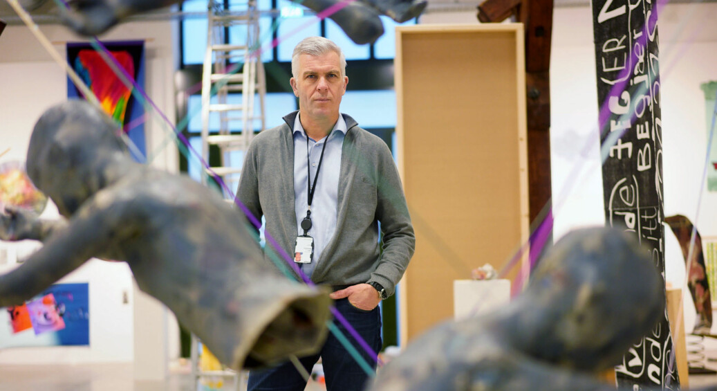 Rektor Jørn Mortensen ved Kunsthøgskolen i Oslo mener at varselet om seksuell trakassering er rystende. Foto: Ketil Blom Haugstulen