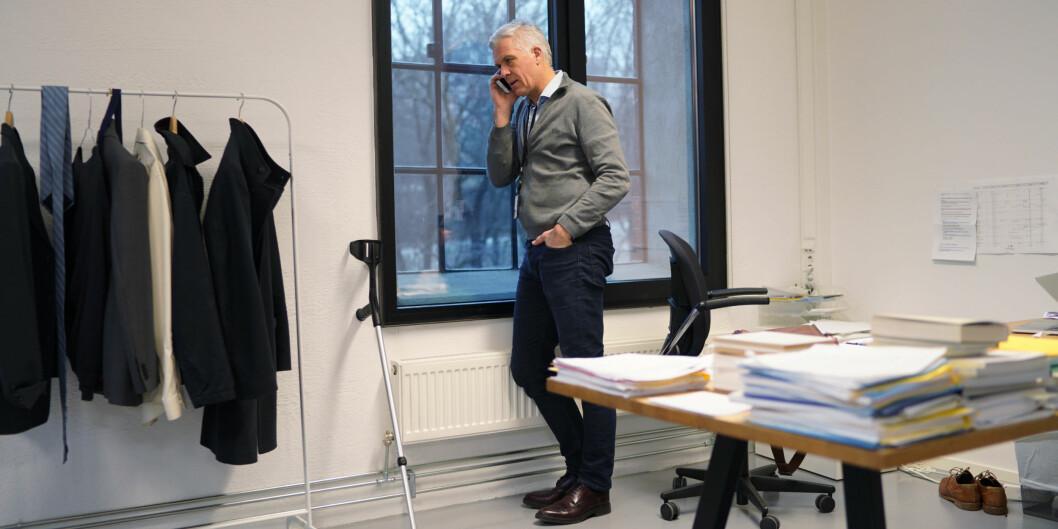 Rektor Jørn Mortensen ved Kunsthøgskolen i Oslo (KHiO) har avsluttet flere saker om seksuell trakassering ved høgskolen i 2018. Foto: Ketil Blom Haugstulen