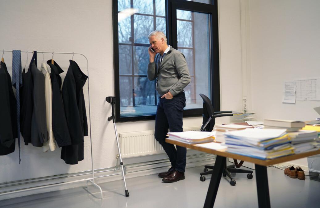 Rektor ved Kunsthøgskolen i Oslo, Jørn Mortensen, har suspendert en av de ansatte etter varsler om seksuell trakassering. Foto: Ketil Blom Haugstulen