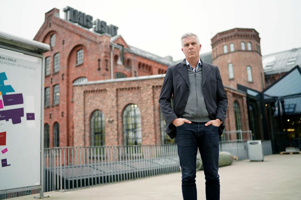 Dagens rektor ved Kunsthøgskolen i Oslo, Jørn Mortensen, sier han tar varslene om seksuell trakassering ved høgskolen svært alvorlig. Foto: Ketil Blom Haugstulen