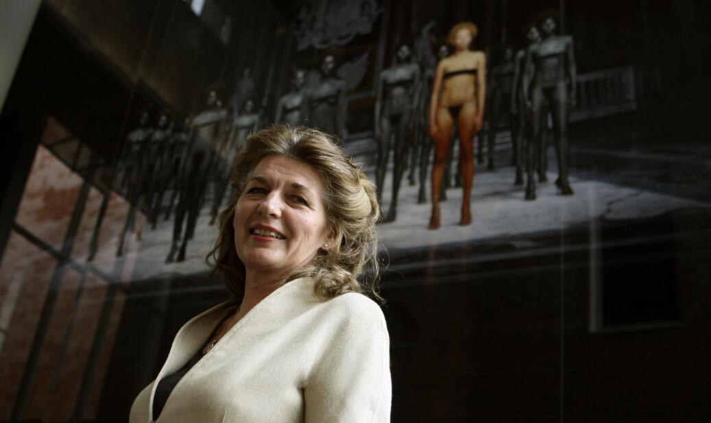 Cecilie Broch Knudsen fotografert i 2007, da hun var påtroppende rektor for Kunsthøgskolen i Oslo. Hun satt som rektor til 2015. Foto: Bjørn Sigurdsøn / SCANPIX