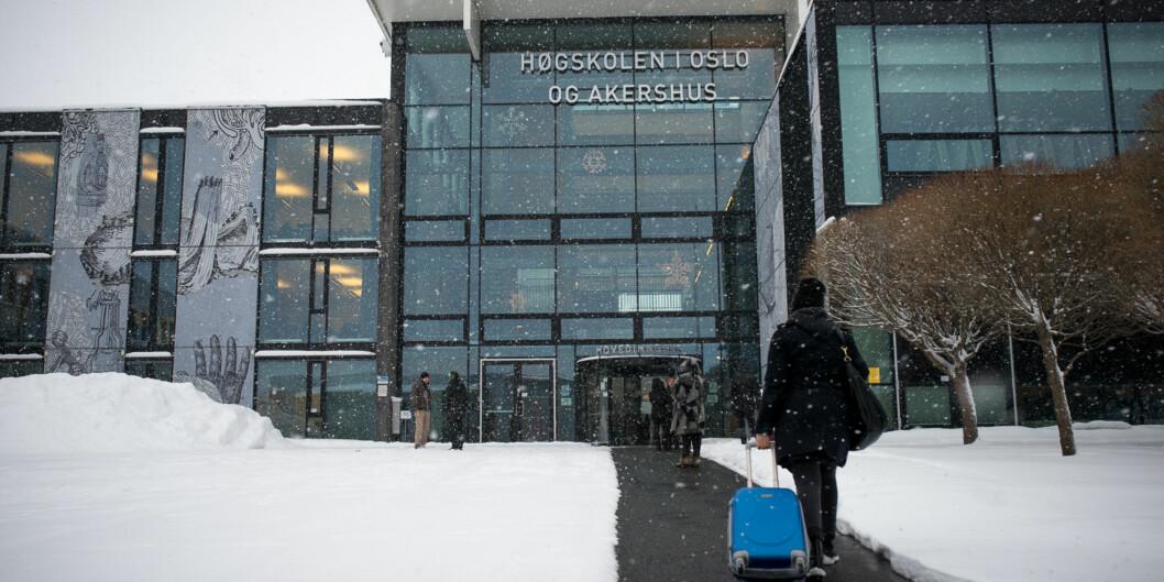 Gårdeier på Kjeller, Hemfosa Samfunnsbygg, har sendt brev til styremedlemmene ved Høgskolen i Oslo og Akershus og sagt at høgskolen kan spare 2-300 millioner på å bli på Kjeller, framfor å flytte til Lillestrøm. Foto: Skjalg Bøhmer Vold