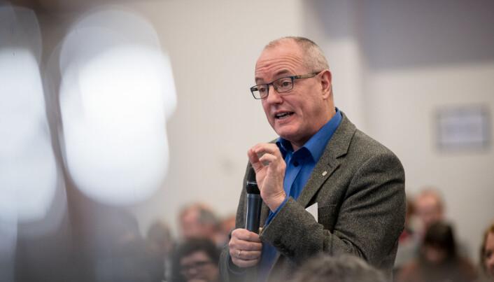 NTNU-rektor Gunnar Bovim er ikke 100 prosent fornøyd med dagens modell i uh-sektoren. Foto: Skjalg Bøhmer Vold
