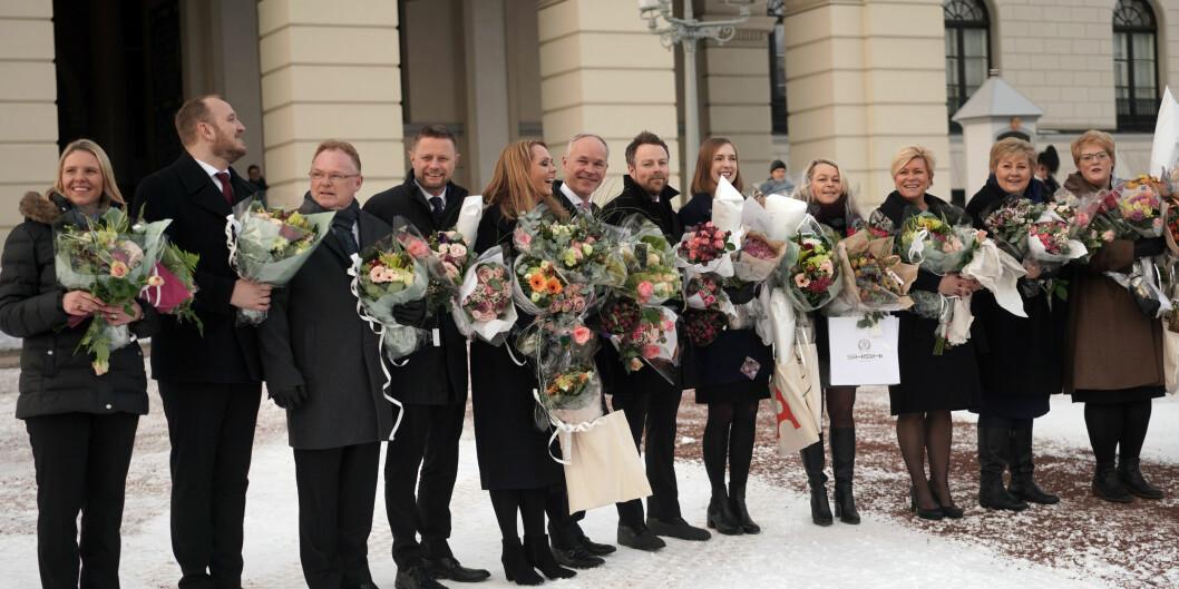 Erna Solberg har endret og utvidet sin regjering. Foto: Ketil Blom Haugstulen