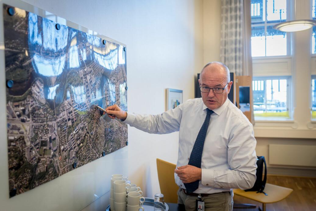 Gunnar Bovim er glad for avklaring fra regjeringen om framtidig campus for NTNU. Foto: Skjalg Bøhmer Vold