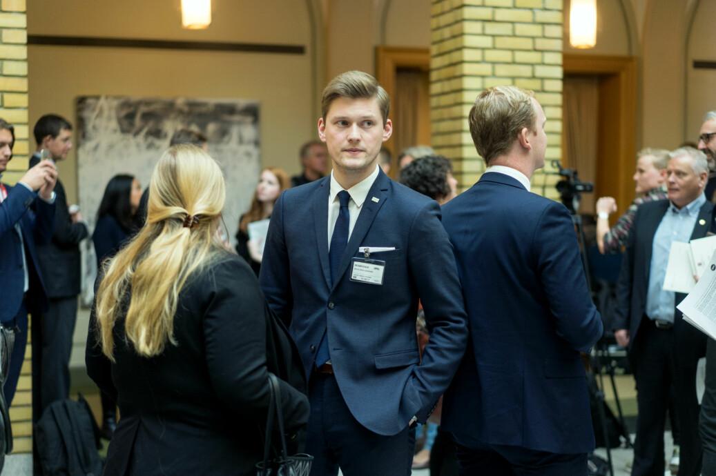 Leder for Norsk studentorganisasjon, Mats J. Beldo, mener Norge henger etter på varierte undervisningsformer. Foto: Ketil Blom Haugstulen