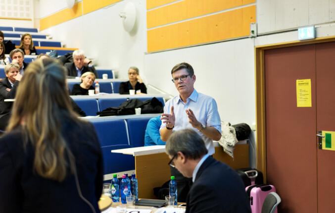 Rektor Svein Stølen ved Universitetet i Oslo under representantskapsmøtet i UHR. Foto: Ketil Blom Haugstulen