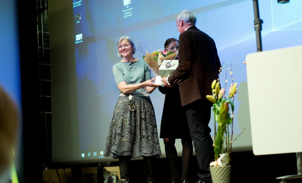 Ellen Blix ble den første jordmor i Norge som ble utnevnt til professor. Torsdag var hun med og ledet feiringen av 200-årsjubileet for jordmorutdanningen. Foto: Ketil Blom