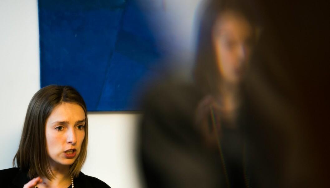 Forskning- og høyere utdanningsminister Iselin Nybø håper den nye helseanalyseplattformen vil bidra til at forskerne slipper å bruke så mye tid på å vente på data fra helseregistre. Foto: David Engmo