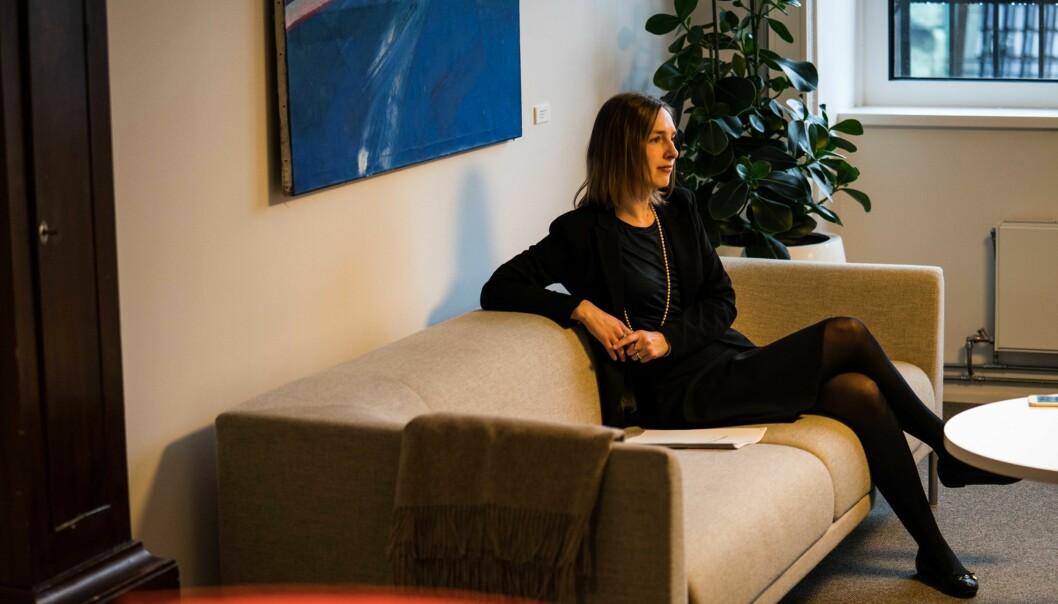 Forsknings- og høyere utdanningsminister Iselin Nybø får fem råd fra internasjonal ekspertgruppe om hvordan den femårige grunnskolelærerutdanningen kan bli bedre. Foto: David Engmo