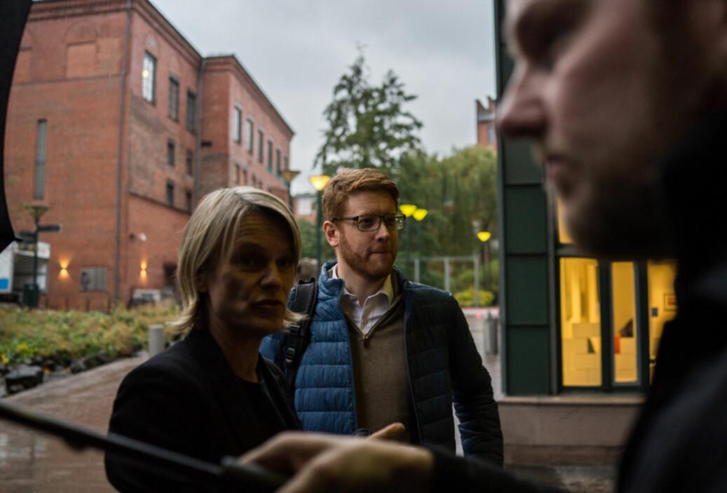 Arbeiderpartiets Nina Sandberg og Martin Henriksen. Foto: David Engmo