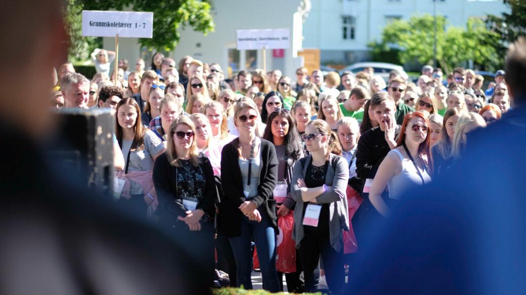 Arkivfoto fra studiestart på Høgskolen i Innlandet. Foto: Ketil Blom Haugstulen