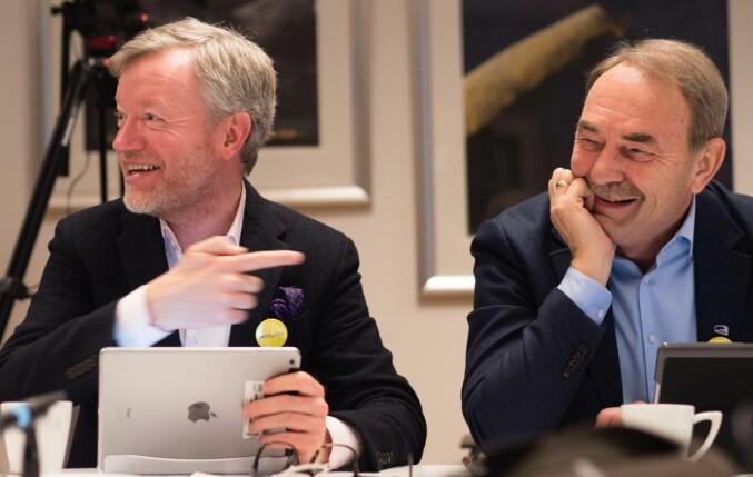 Torger Ødegaard (t.v.) og Gunanr Melgaard. Foto: Petter Berntsen