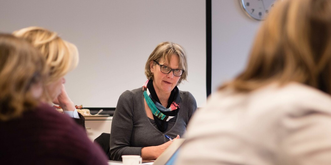 Styreleder ved OsloMet ønsker velkommen til høstens første styremøte onsdag kl 10.00. Bildet er fra et tidligere møte. Foto: Petter Berntsen