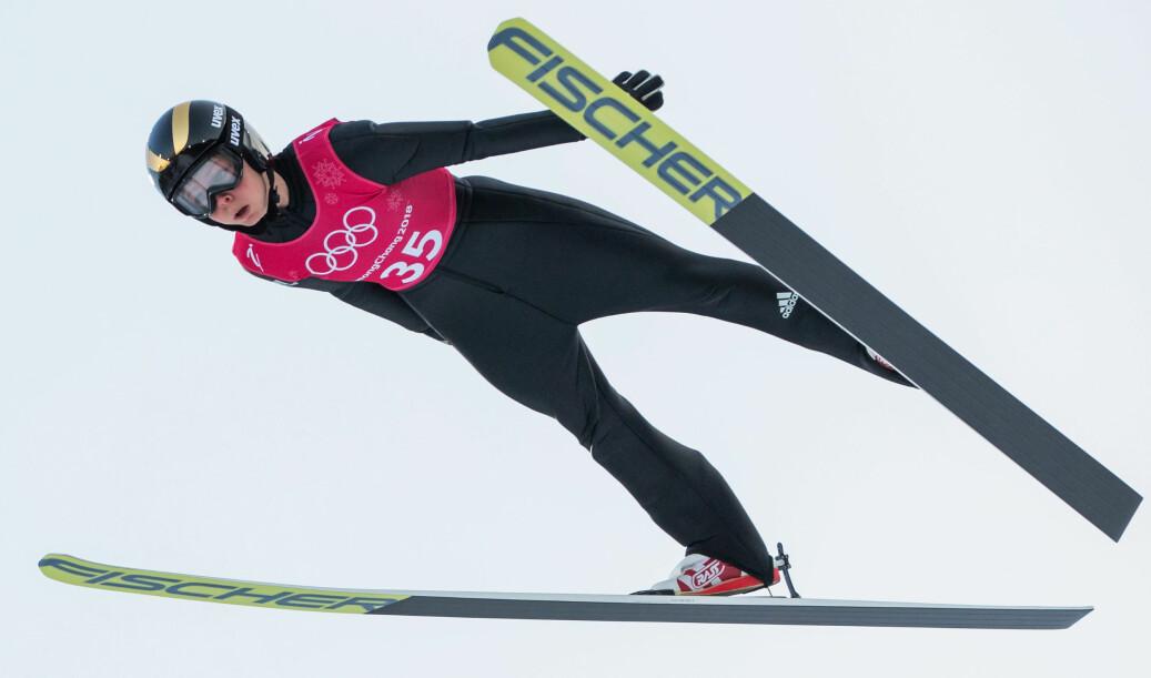 Maren Lundby er student på Høgskolen i Innlandet. Mandag 12. februar skal hun konkurrere om OL-gull i hopp normal bakke. Foto: NTB scanpix