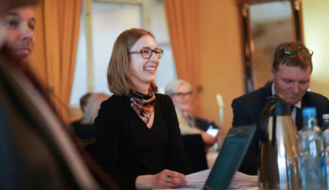 Islein Nybø på statsministerens toppmøte om forskning og høyere utdanning. Foto: Ketil Blom Haugstulen.