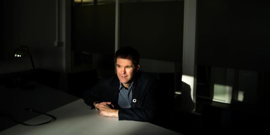 """John-Arne Røttingen er direktør i Forskningsrådet. Han har sammen med forsknings- og høyere utdanningsminister Iselin Nybø lansert den såkalte """"Plan S"""" for å få mer åpent tilgjengelig forskning. Foto: David Engmo"""