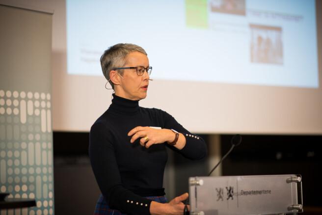 Rektor Ingunn Moser ved VID har håndtert to saker om seksuell trakassering. Foto: Skjalg Bøhmer Vold