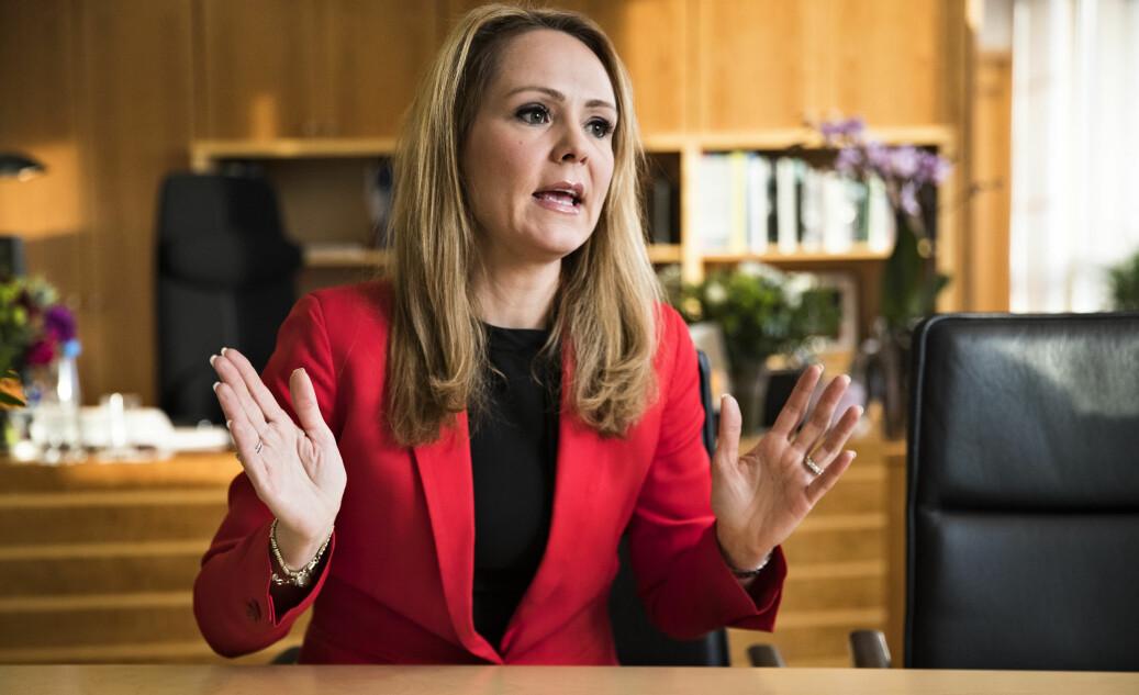 Likestillingsminister Linda Hofstad Helleland (H) skal igang med utredning om lavterskeltilbud ved behandling av saker om seksuell trakassering. Foto: Hallgeir Vågenes, VG/NTBscanpix