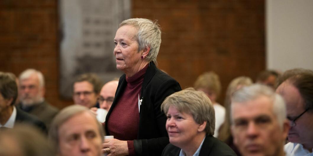 Rektor Kathrine Skretting ved Høgskolen i Innlandet må svare mer detaljert på viktige punkter i universitetssøknaden. Foto: Skjalg Bøhmer Vold
