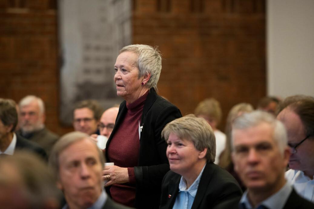 Kathrine Skretting, rektor ved Høgskolen i Innlandet, varsler innstramming på etterlønnsordningene. Hun sier de ikke har diskutert å skrote ordningen. Foto: Skjalg Bøhmer Vold