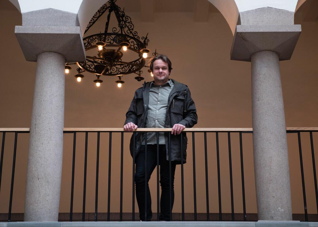 Lars Erik Larsen er stipendiat på OsloMet. Foto: Petter Berntsen