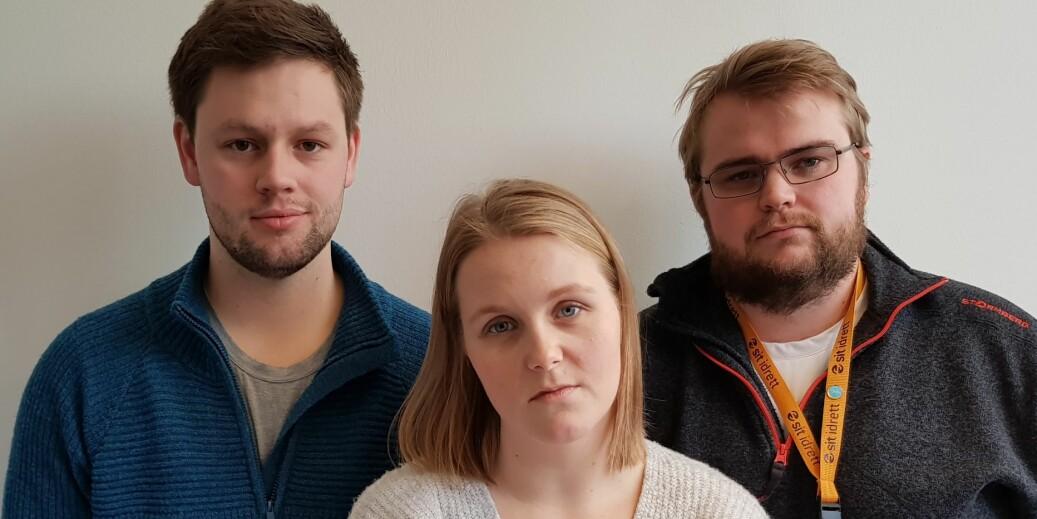 Sindre Kristian Alvsvåg, Ellen Helstad og Thomas Krogstad Eriksen. Foto: Elise Kaldheim