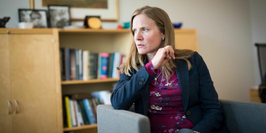 Rektor på NMBU, Mari Sundli Tveit, beklager sterkt hendeklsen der en av hennes ledere forsøkte å kjøpe taushet fra en av NMBUs kunder. Ansvarlig instituttleder beklager også på det sterkeste det han gjorde. Foto: Skjalg Bøhmer Vold