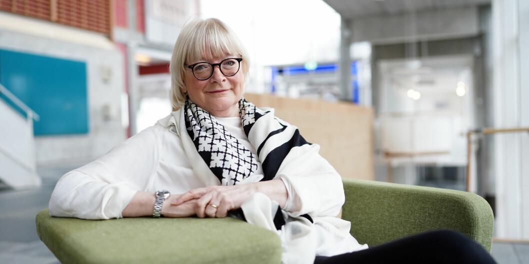 Rektor Berit Rokne ved Høgskulen på Vestlandet mener det bare burde være ett karriereløp for akademikere. Foto: Ketil Blom Haugstulen