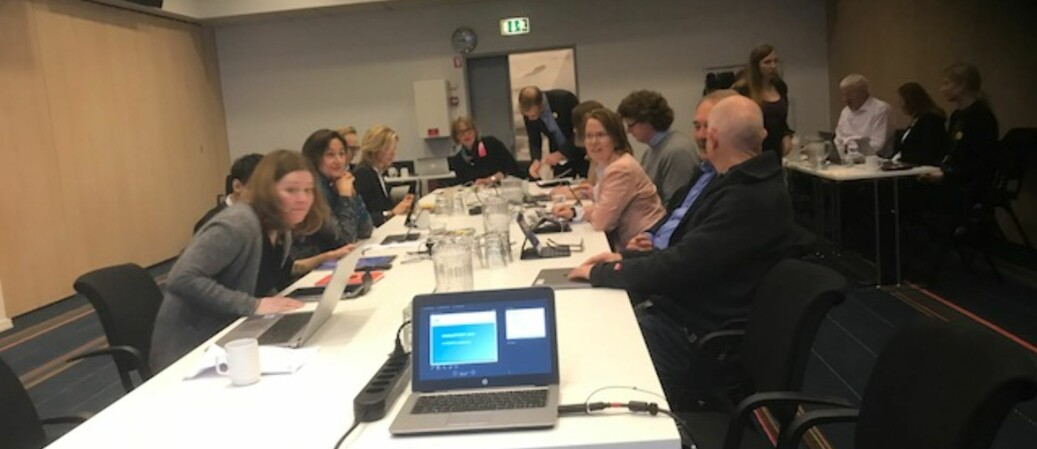 OsloMet-styret møttes på et hotell i København for å holde styremøte, seminar og gjennomføre studiebesøk på Copenhagen Business School. Foto: Tove Lie