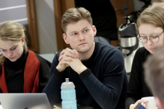 NSO-leder Mats J. Beldo vil ha pensumlitteratur åpen og tilgjengelig. Foto: Ketil Blom Haugstulen