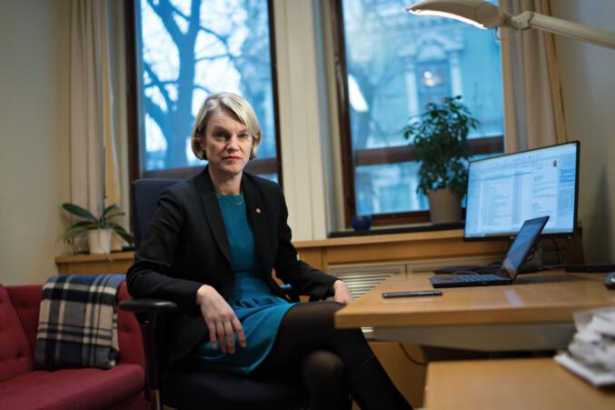 Nina Sandberg (Ap) viser til at Arbeiderpartiet foreslo insentivmidler for mentor-ordning i 2016. Foto: Ketil Blom Haugstulen