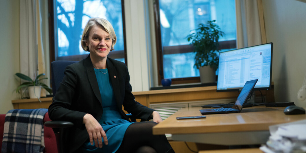 Stortingsrepresentant Nina Sandberg (Ap) mener regjeringspartiene snur ting på hodet ved å si at opposisjonen forsinker innføring av mentorordning. Foto: Ketil Blom Haugstulen