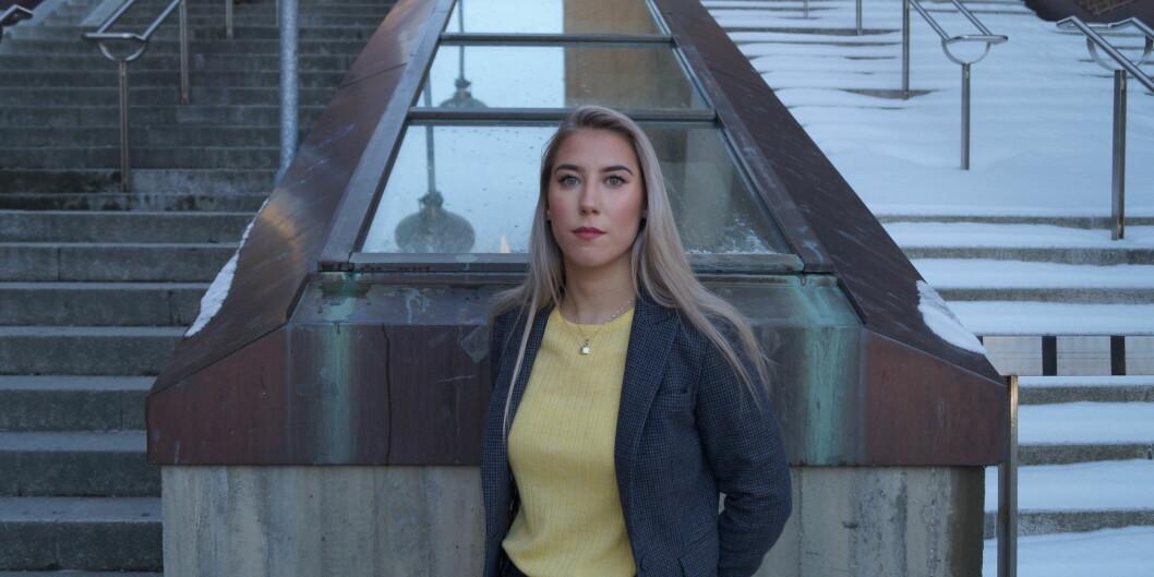 Parlamentsleder Ida-Elise Seppola Asplund står selv er på Sosialdemokratenes liste ved UiT. Hers kriver de om situasjonen etter at forslag om mistillit mot deres leder falt. Foto: Øystein Fimland
