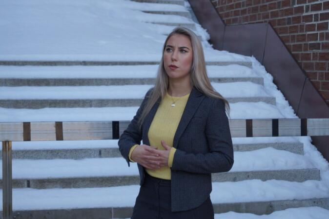 Parlamentsleder Ida-Elise Seppola Asplund ved UiT forventer å få svar på hvorfor saken har blitt stemplet av Moderat liste som en trakasseringssak. Foto: Øystein Fimland