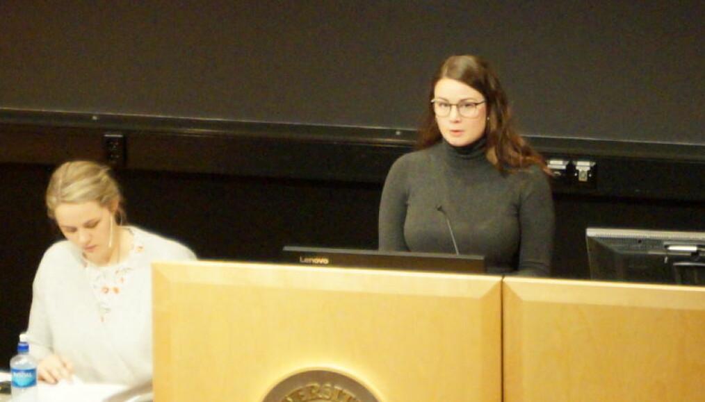 Listeleder for Moderat liste, Cecilie Mathisen, foreslo i mandagens ekstraordinære å lukke møtet.